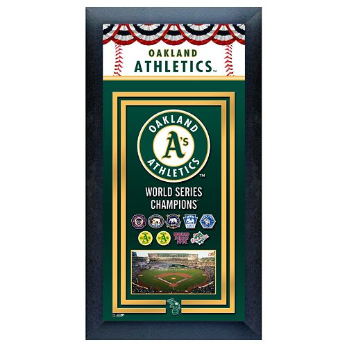 Oakland Athletics World Series Champions® Framed Wall Art