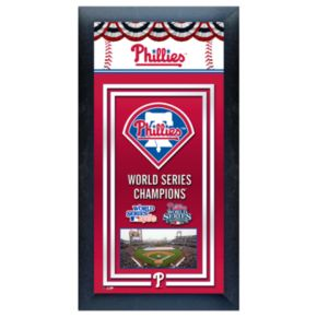 Philadelphia Phillies World Series Champions Framed Wall Art