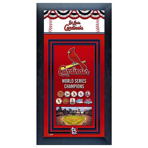 st louis cardinals world series champions framed wall art. Black Bedroom Furniture Sets. Home Design Ideas