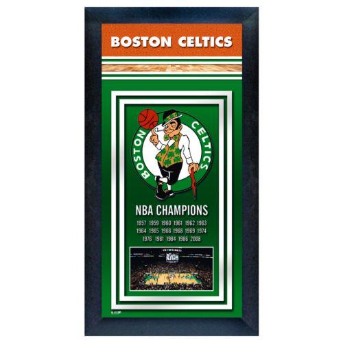 Boston Celtics NBA Champions Framed Wall Art
