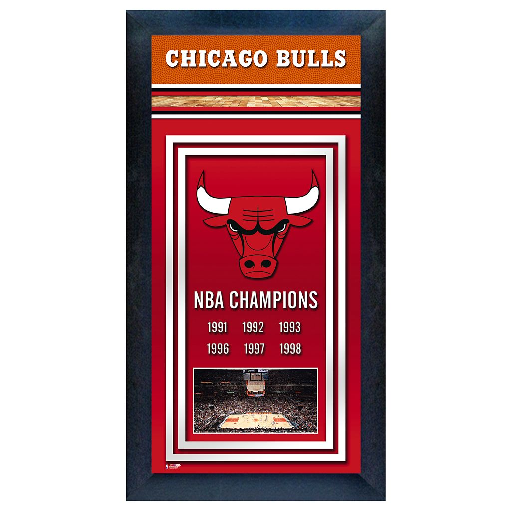 Chicago Bulls NBA® Champions Framed Wall Art