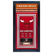 Chicago Bulls NBA Champions Framed Wall Art