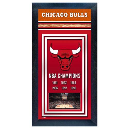Chicago Bulls NBA Champions Framed Wall Art