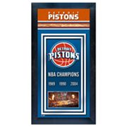 Detroit Pistons NBA Champions Framed Wall Art
