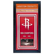 Houston Rockets NBA Champions Framed Wall Art