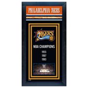 Philadelphia 76ers NBA Champions Framed Wall Art