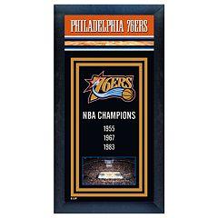 Philadelphia 76ers NBA® Champions Framed Wall Art