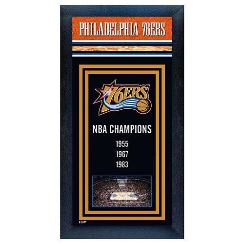 Philadelphia 76ers NBA® Champions Framed Wall Art