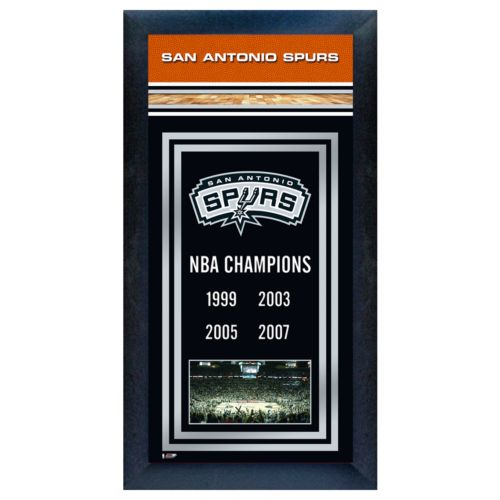 San Antonio Spurs NBA Champions Framed Wall Art
