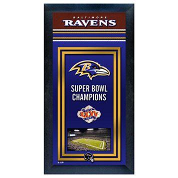 Baltimore Ravens Super Bowl® Champions Framed Wall Art