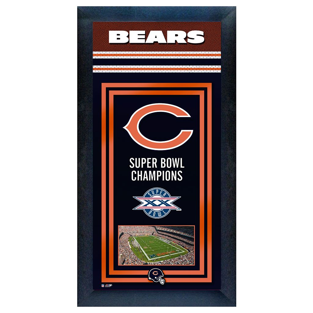 Chicago Bears Super Bowl® Champions Framed Wall Art