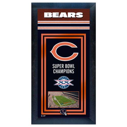 Chicago Bears Super Bowl Champions Framed Wall Art