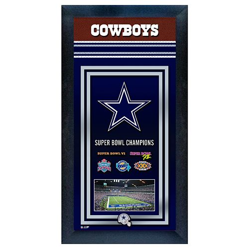 Dallas Cowboys Super Bowl® Champions Framed Wall Art