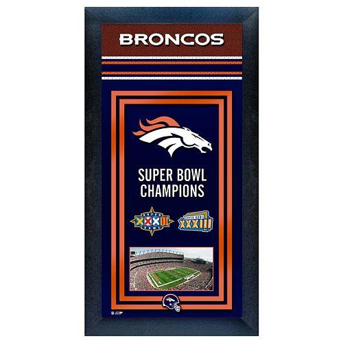 Denver Broncos Super Bowl® Champions Framed Wall Art