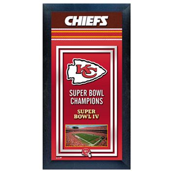 Kansas City Chiefs Super Bowl® Champions Framed Wall Art