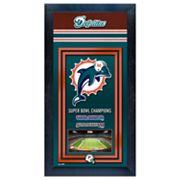 Miami Dolphins Super Bowl Champions Framed Wall Art