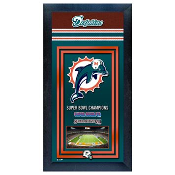 Miami Dolphins Super Bowl® Champions Framed Wall Art