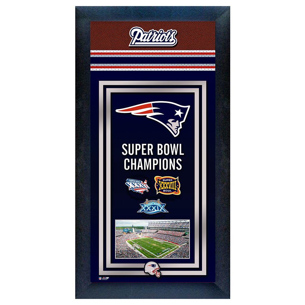 New England Patriots Super Bowl® Champions Framed Wall Art