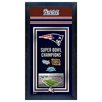 New England Patriots Super Bowl® Champions Framed Wall Art