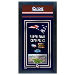 New England Patriots Super Bowl Champions Framed Wall Art