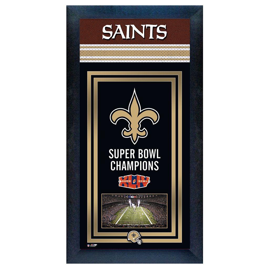 New Orleans Saints Super Bowl® Champions Framed Wall Art