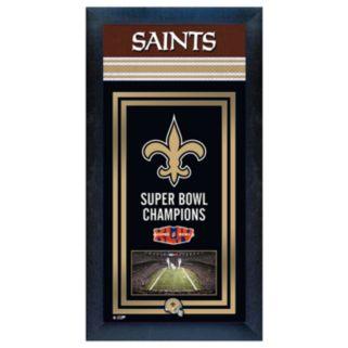 New Orleans Saints Super Bowl Champions Framed Wall Art