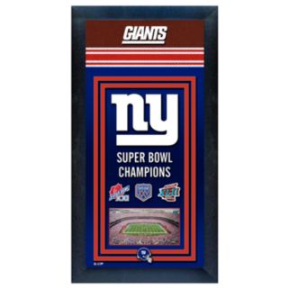 New York Giants Super Bowl Champions Framed Wall Art