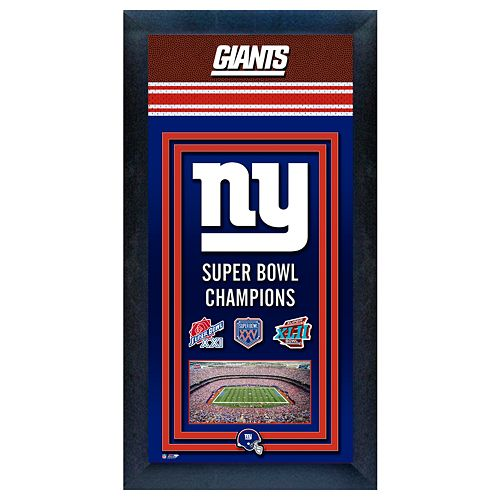 New York Giants Super Bowl® Champions Framed Wall Art