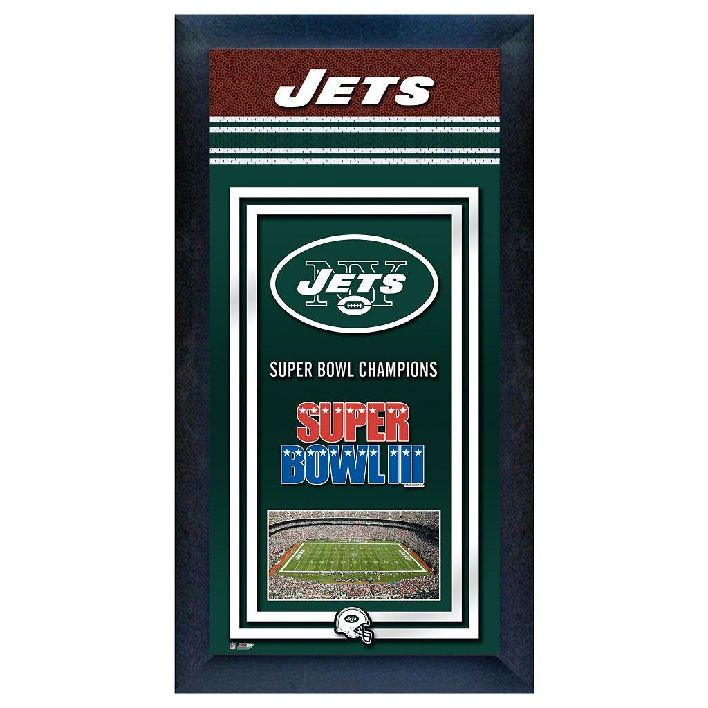 New York Jets Super Bowl® Champions Framed Wall Art