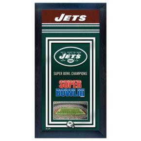 New York Jets Super Bowl Champions Framed Wall Art
