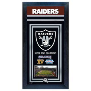 Oakland Raiders Super Bowl Champions Framed Wall Art