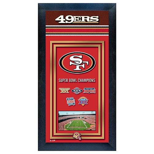 San Francisco 49ers Super Bowl® Champions Framed Wall Art