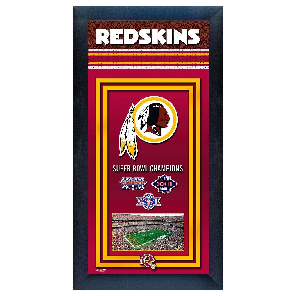 Washington Redskins Super Bowl® Champions Framed Wall Art