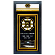 Boston Bruins Stanley Cup Framed Wall Art