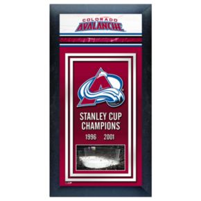 Colorado Avalanche Stanley Cup Champions Framed Wall Art