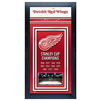 Detroit Red Wings Stanley Cup® Champions Framed Wall Art
