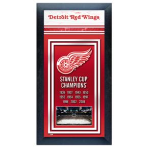 Detroit Red Wings Stanley Cup Champions Framed Wall Art