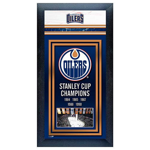 Edmonton Oilers Stanley Cup Champions Framed Wall Art
