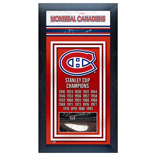 Montreal Canadiens Stanley Cup® Champions Framed Wall Art