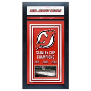 New Jersey Devils Stanley Cup Champions Framed Wall Art