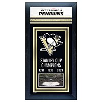 Pittsburgh Penguins Stanley Cup® Champions Framed Wall Art