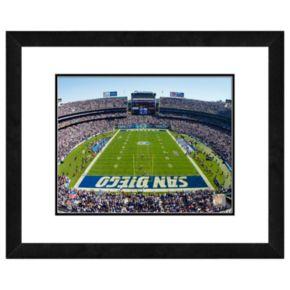 San Diego Chargers Qualcomm Stadium Framed Wall Art