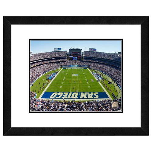 San Diego Chargers Art: San Diego Chargers Qualcomm Stadium Framed Wall Art