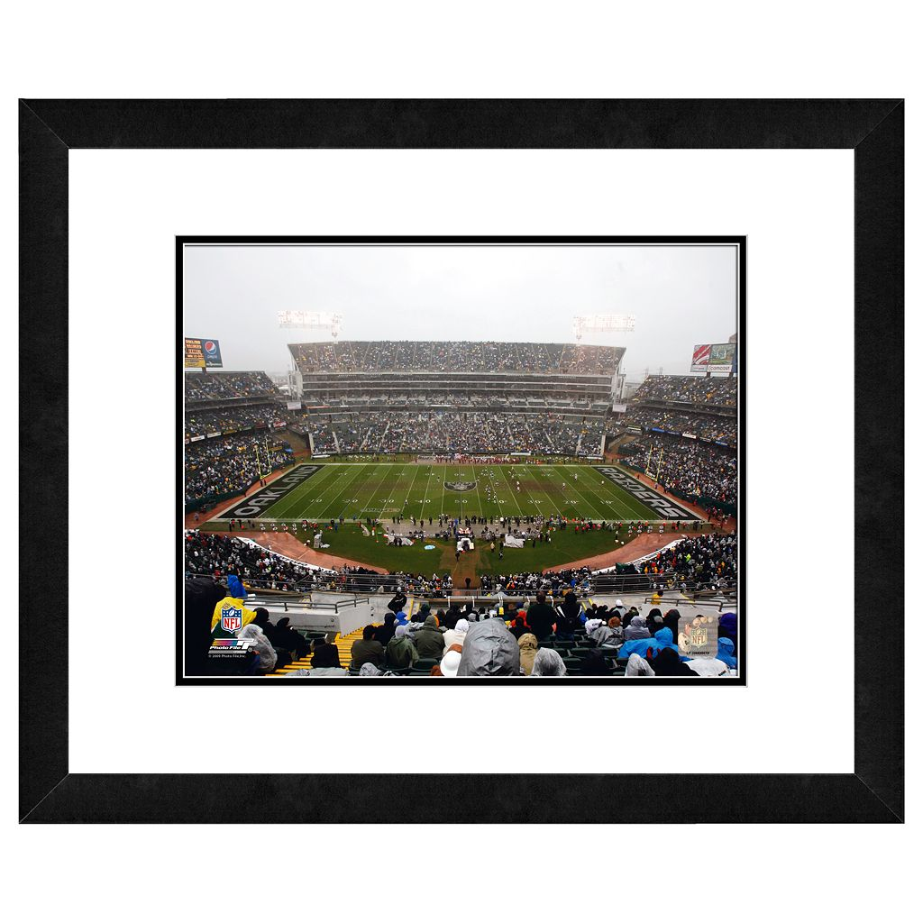 Oakland Raiders Oakland Coliseum Framed Wall Art