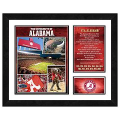 Alabama Crimson Tide Milestones& Memories Framed Wall Art