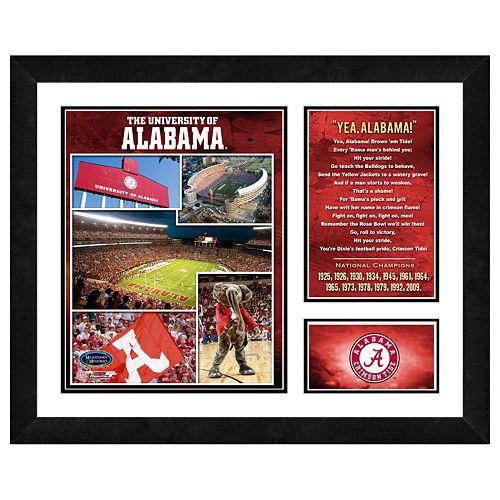 Alabama Crimson Tide Milestones& Memories Framed Wall Art