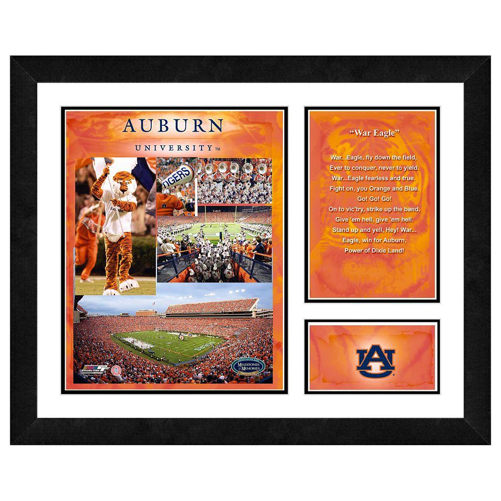 Auburn Tigers Milestones & Memories Framed Wall Art