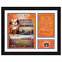 Auburn Tigers Milestones & Memories Framed Wall Art