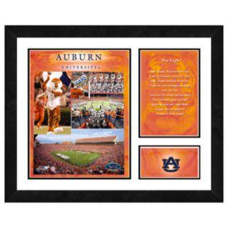 Auburn Tigers Milestones and Memories Framed Wall Art