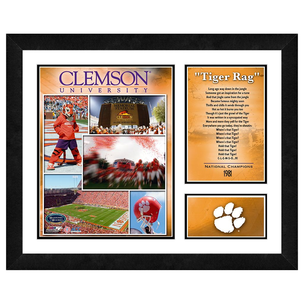 Clemson Tigers Milestones & Memories Framed Wall Art